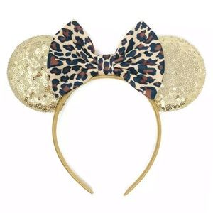 Minnie Mouse Leopard Sequin Headband